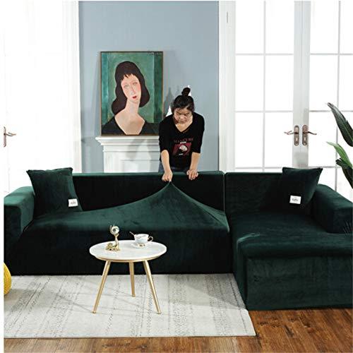 empty Bankovertrek, elastische bankovertrek, polyester, elastomeer, donkergroen 235x300cm