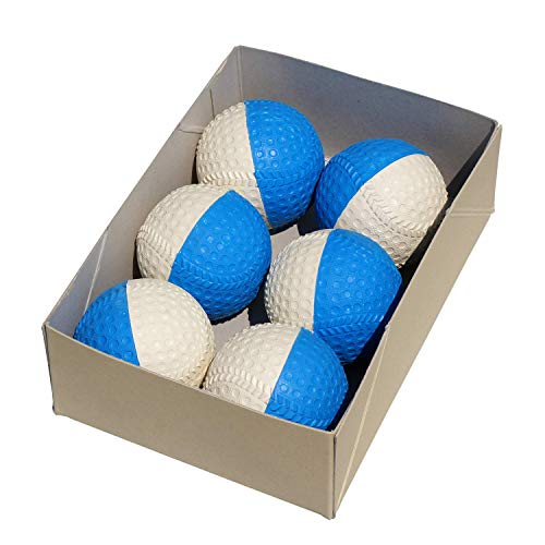 野球用トレーニングボール 回転チェックボール ブルー/白 6個