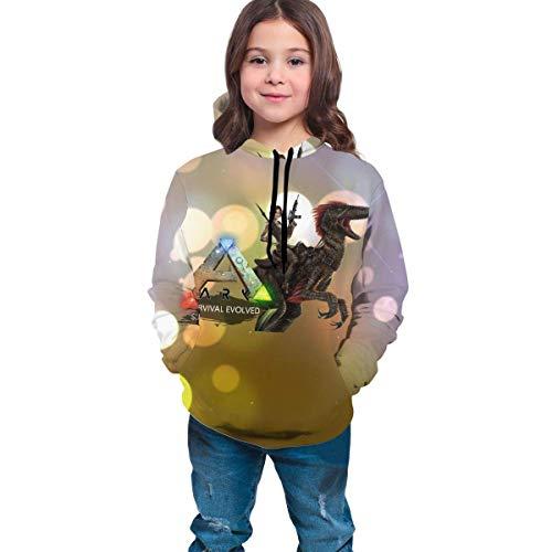Tengyuntong Sudaderas con Capucha Sudadera con Capucha Personalizada Ark-Survival-Evolved para niñas, niños, Sudadera de Moda, últimas Camisetas Deportivas con impresión 3D