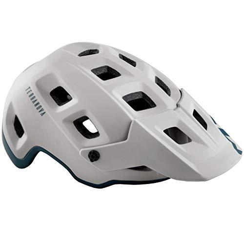 MET Terranova All Mountain Bike Helmet Grey Petrol Blue
