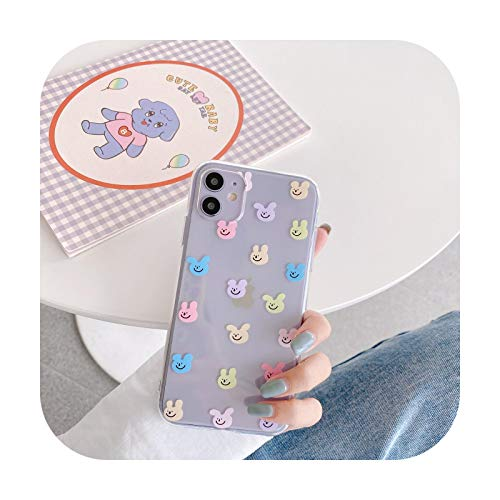 Cute Animal Clear Phone Case For Samsung Note 20 10 plus 8 9 S10E S9 S8 S10 S20 FE plus A30 A51 A70 A71 A40 A50 A21 S Soft Cover-2Y175-01-For-Samsung A50
