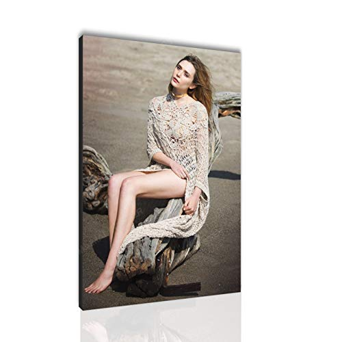 Elizabeth Olsen Poster Wandavision Poster Canvas Wall Art Decoration Painting Sexy Legs Poster (16x24in No Frame,B)