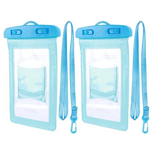Kadimendium Bolsa de teléfono con Bolsa de teléfono de natación a la Deriva teléfonos Inteligentes(Blue)