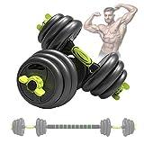 YSNJIN Juego De Mancuernas Ajustables, Kit Pesas Musculacion con Barra de Conexión, Antideslizante para Levantamiento de Pesas, Cuerpo de Entrenamiento,30kg