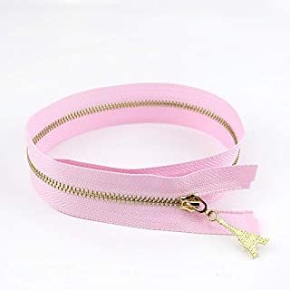 JWJY 10/30pcs 3# Metal Zipper Open End 40/50/60/70cm DIY Puller Zip for Sewing Bags Purse Down Jacket Skirt Clothing Accessory (Color : Pink, Size : 30pcs)