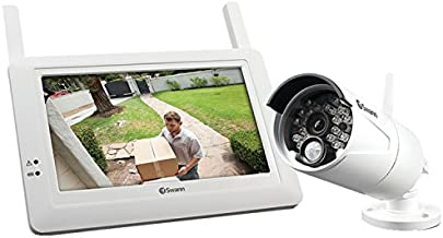 Swann SWADW-410KIT-US ADW-410 Digital Wireless Security System Monitor & Camera Kit (White)