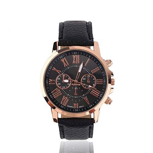 #N/V Universal Casual Elegante Números de Cuero de la PU Aleación de Cuarzo Reloj de Diseño de Moda Relojes de Pulsera Accesorios