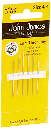 Colonial JJ114-48 Easy Threading Calyxeye Hand Needles, 4/8 6/