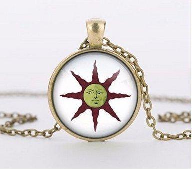 Collar Dark Souls of Sun, hecho a mano con colgante de almas oscuras del sol