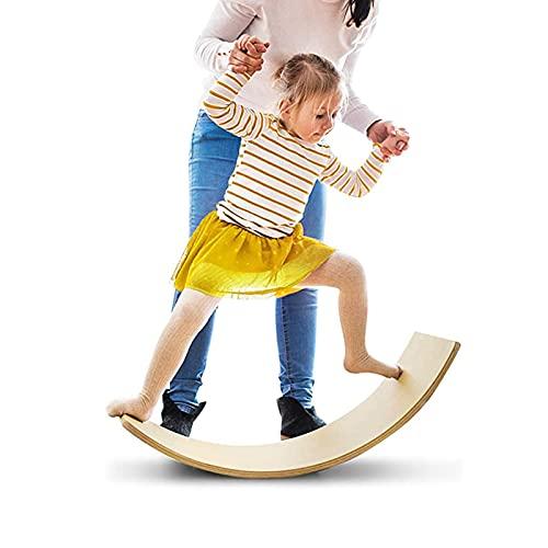 Wooden Balance Board, Wobbel Balance Board Kid Yoga Board Curvy Board Wooden Rocker Board for Classroom & Office,36.6 Inch