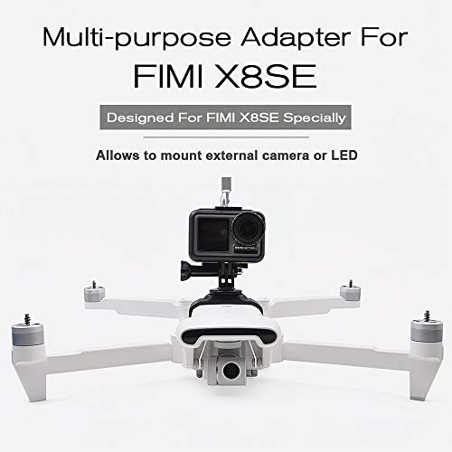 AppleLand STARTRC Multi-Purpose Adapter Camera Mount Extra LED Mount for FIMI X8 SE Drone Quadcopter