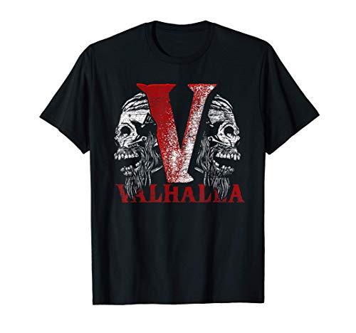 Crâne Valhalla Cadeau Valkyrie Mythologie Viking T-Shirt