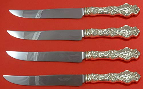 Irian by Wallace Sterling Silver Steak Knife Set 4pc Large Texas Sized Custom