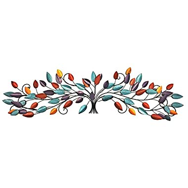 Bellaa 21987 Elegant Metal Scroll Metal Wall Plaque, Wall Decor