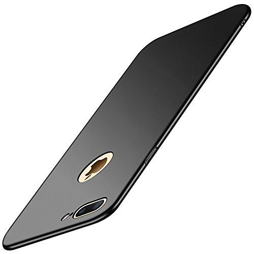 Vanki Custodia con iPhone 8 Plus,Cover iPhone 7 Plus,Ultra Slim Hard PC Case Protettiva Posteriore Copertura Bumper Antiurto AntiGraffio per iPhone 7 Plus/8 Plus (iPhone 7 Plus, Nero)
