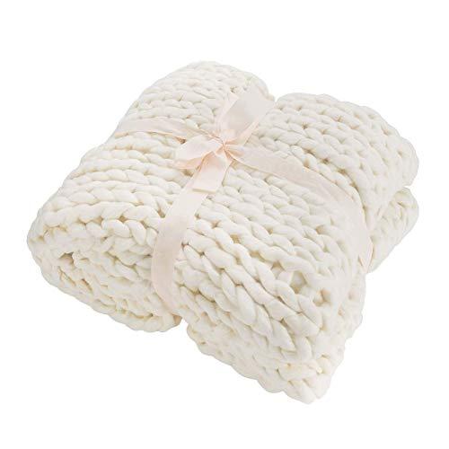 ZCXBHD - Manta de punto grueso para mascotas, cama, sofá, yoga, color blanco, tamaño: 120 x 150 cm