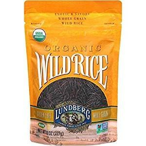 Lundberg Organic Wild Rice Gluten Free Non GMO 8 Oz. Pack Of 3.