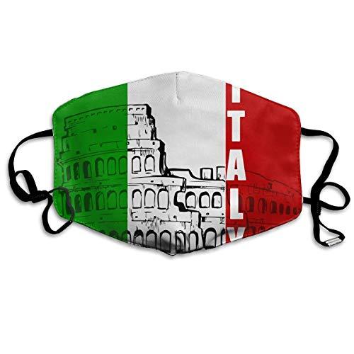 Neuheit Schals, Roman Colosseum Italien Italienische Flagge Unisex Mode Warme Anti-Staub Waschbare Wiederverwendbare Abdeckung