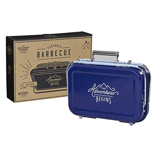 Gentleman's Hardware GEN253 Tragbarer Grill, Blau, 32 x 31,5 x 40 cm