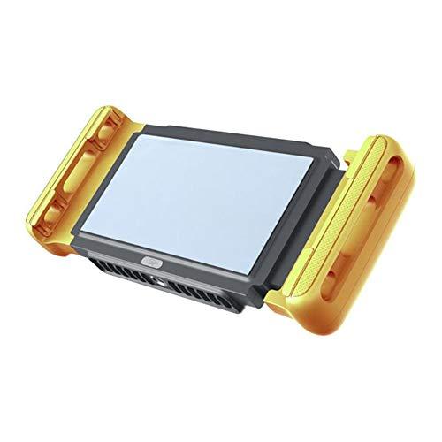 QHAI Gioco Cellulare d'Acqua, Ventilatore Supporto telefonico radiatore di Raffreddamento Gamepad Titolare del dissipatore di Calore, per 4,0 a 7,0 Pollici del Telefono Mobile,Giallo