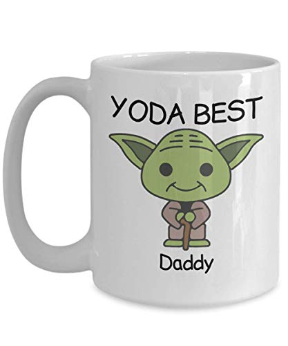 Yoda Best Daddy - Novelty Gift Mugs for Star Wars Fans - Birthday Present, Anniversary, Valentines, Special Occasion, Dads, Moms, Family, Christmas - 15oz Funny Coffee Mug