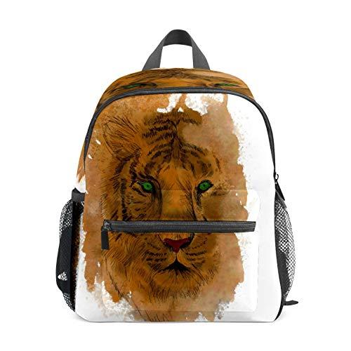 Mochila infantil para niños de 1 a 6 años de edad, mochila perfecta para niños y niñas de tigre, bocetos salvajes dibujados