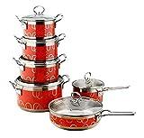 HNSXR Juego de 6 utensilios de cocina de cocina de acero...