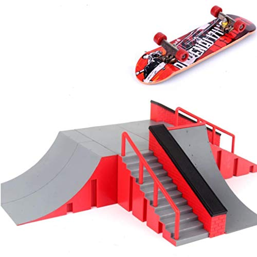 Casecover 1PC Mini Fingertip Spielzeug, Skateboard Spielzeug, Skateboard-Park Brett Rampe Brett Training Board