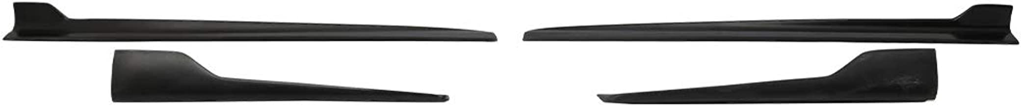 Side Skirts Compatible With 2006-2008 BMW E90 3 Series | Black PP Sideskirt Rocker Moulding Air Dam Chin Diffuser Bumper Lip Splitter by IKON MOTORSPORTS| 2007