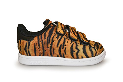 adidas - zapatilla baja Unisex, para niños , color naranja, talla 35 EU