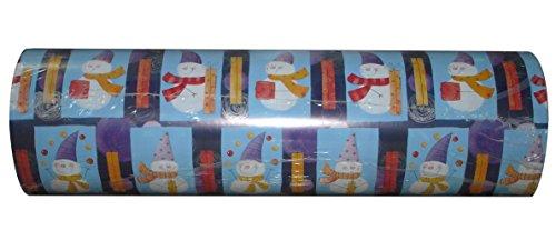 Woerner Geschenkpapier Weihnachten Schneemann Rolle 250m x 50cm