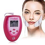 WWMH Estimuladores musculares eléctricos TENS EMS Masajeador Adelgazante Facial eléctrico Estimulación Muscular con 2 electrodos Etiqueta Facial 2 Etiqueta de mejilla