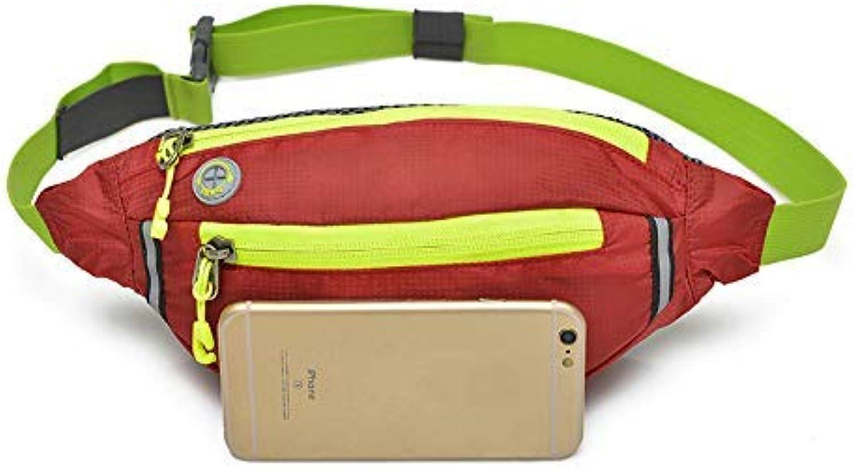 FORTR Home Herren Gürteltasche Brusttasche Outdoor Sports Schulter Messenger Rucksack Umhängetasche (Rot) B07PZB9X9K  Jugend überschwemmen