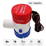 MAXZONE Submersible Boat Bilge Water Pump 12v 1100gph Non-Automatic Marine Electric Bilge Pump for Ponds, Pools, Spas Silent, Boat Caravan RV Submersible