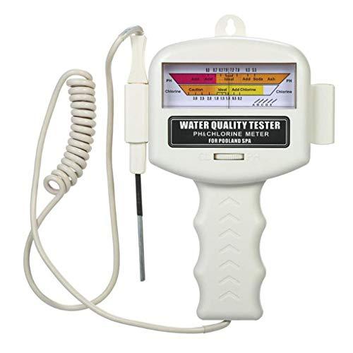 Profi Wasserqualitätstester PH Messgerät, Wassertestgerät für Ph und Chlor, Tragbarer Wasseraufbereiter Water Test Meter, Ideal Wasser Tester für Pool Teich Trinkwasser Aquarien Schwimmbad by Hukz