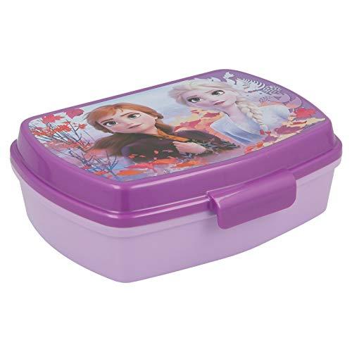 | Frozen 2 - Disney | Sandwichera Para Niños Decorada - Fiambrera Infantil | Caja Para El Almuerzo Y Porta Merienda Para Colegio - Lonchera