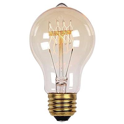 0 40 Watt A19 Clear Timeless Vintage Inspired Bulb with Medium Base