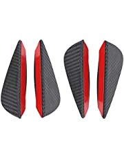 Alerón de parachoques delantero labio 4 piezas Universal fibra de carbono aletas de parachoques delantero de coche alerón de labios Canards Splitter aletas