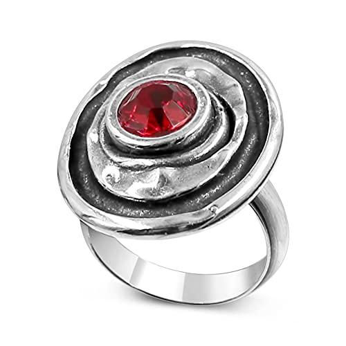 Joyas Passo ® Anillo de plata para mujer con cristal tallados en el centro de distintos colores. El anillo Waena es un modelo ajustable desde la talla 12 a la 19. Se entrega con una caja de regalo.