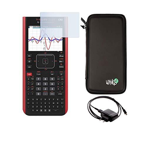 Texas Instruments TI Nspire CX II-T CAS + Garanzia estesa + Cavo di Ricarica + Pellicola Protettiva + Custodia