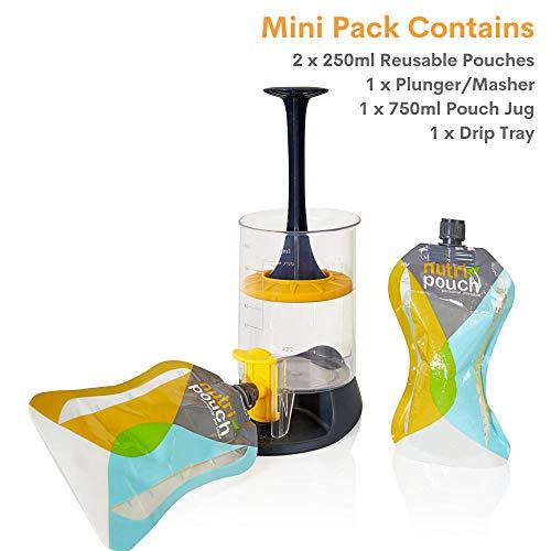 Nutripouch wielokrotnego użytku torba do przechowywania napojów – przechowuj domowe soki, napoje energetyczne i koktajle w torebkach wielokrotnego użytku – idealne akcesoria do blendera smoothie, mini zestaw