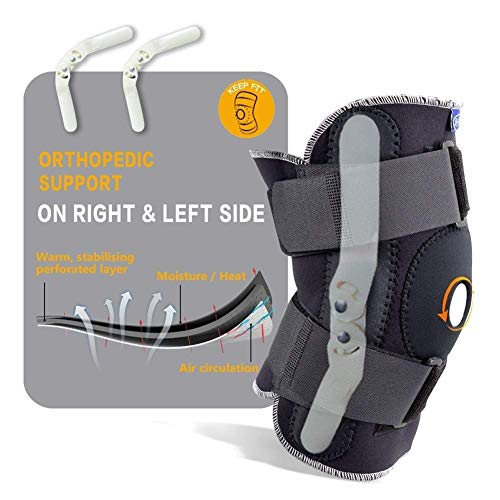 Gaodpz Bretelle ginocchio for le donne regolabile ginocchio traspirante tutore ortopedico Stabilizzatore ginocchiere Supporto Guardia con interni flessibili cerniera Sport Knee Brace ginocchiere for g