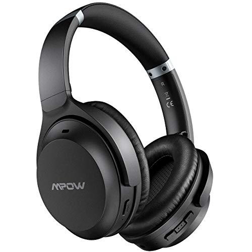 Mpow H12 IPO Auriculares con Cancelación Activa de Ruido, Bluetooth5.0, CVC 8.0, 40hrs de Reproducir, Auriculares Diadema Bluetooth Over Ear con Tipo C para TV, PC, Móvil