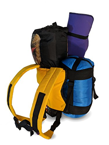 Backpack for Yoga Mats, Tents and Sleeping Bags (Gold)