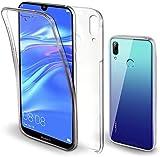 Movilshop Coque 360 [Huawei Y7 2019] PC + TPU Coque double face 360 en silicone avant + arrière...