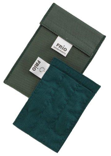 FRIO Kühltasche für Insulin, 9 x 11cm, grün - KEIN Eispack oder Batterien nötig