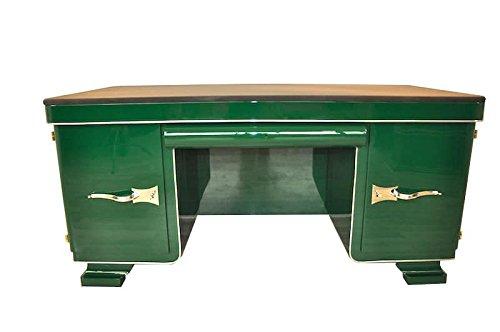OAM Racing Green Art Deco-Schreibtisch mit Seltenheitswert