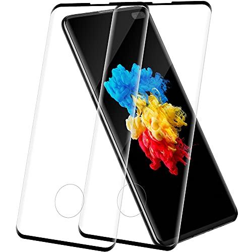 REROXE Panzerglas für Samsung Galaxy S10 Plus, 2 Stück Panzerfolie, HD Schutzfolie, 9H Härte displayschutzfolie, Anti-Kratzen, Ultrabeständig, Perfekte Passform, Einfache Installation