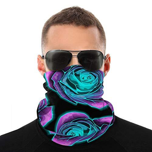 Hangdachang Mysterious Neon Polainas de cuello con protección elástica sin costuras para la cara, bandana, pasamontañas multiusos para exteriores