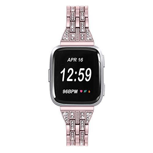 Correa de Reloj de Acero Inoxidable para Fitbit Versa 18 cm / 7 Pulgadas 2,3 cm / 0,91 Pulgadas